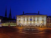 Rathaus auf Place Guillaume II, Luxemburg-City, Luxemburg, Europa, UNESCO-Weltkulturerbe<br /> City Hall at Place Guillaume II, Luxembourg, Luxembourg City, Europe, UNESCO world heritage