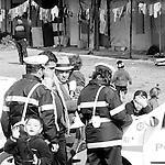 The police come to turn away Romanians, for safety reasons ( some asbestos roofs). They arrive from the most depressed and flood damaged regions of Romania. As new EU citizens they expect to be welcome to Italy. They are frced in abandoned industrial areas, until police come to turn them away. romanian squatters in an abandoned factory in Italy, moving from a place to another becouse of police