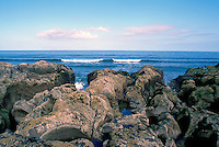 Queen Charlotte Islands (Haida Gwaii), Northern BC, British Columbia, Canada - Rocky Coastline at McIntyre Bay and North Beach, Naikoon Provincial Park, Graham Island