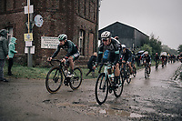 Juraj Sagan (SVK/BORA - hansgrohe) & Christopher Juul-Jensen (DEN/BikeExchange)<br /> <br /> 118th Paris-Roubaix 2021 (1.UWT)<br /> One day race from Compiègne to Roubaix (FRA) (257.7km)<br /> <br /> ©kramon