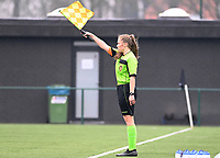 assistant referee Shauni Depruyst pictured during a female soccer game between Club Brugge Dames YLA and White Star Woluwe on the 12 th matchday of the 2020 - 2021 season of Belgian Scooore Womens Super League , saturday 30 January 2021  in Brugge , Belgium . PHOTO SPORTPIX.BE | SPP | DAVID CATRY
