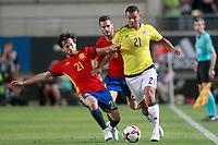 Spain's David Jimenez Silva (l) and Koke Resurreccion (c) and Colombia's Edwin Cardona during international friendly match. June 7,2017.(ALTERPHOTOS/Acero) (NortePhoto.com) (NortePhoto.com)