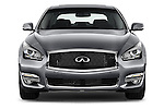 Car photography straight front view of a 2015 Infiniti Q70 3.7 L 4 Door Sedan Front View