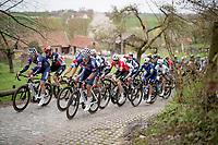 Team Alpecin-Fenix at the helm up Berg Ten Houte<br /> <br /> 105th Ronde van Vlaanderen 2021 (MEN1.UWT)<br /> <br /> 1 day race from Antwerp to Oudenaarde (BEL/264km) <br /> <br /> ©kramon