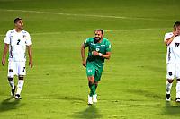 BOGOTA-COLOMBIA, 18-09-2020: Matias Mier de La Equidad, celebra el gol anotado a Boyaca Chico F.C., durante partido entre La Equidad y Boyaca Chico F.C. de la fecha 9 por la Liga BetPlay DIMAYOR I 2020, jugado en el estadio Metropolitano de Techo en la ciudad de Bogota. / Matias Mier of La Equidad celebrates a scored goal to Boyaca Chico F.C., during a match La Equidad and Boyaca Chico F.C., of the 9th date for of BetPlay DIMAYOR League I 2020 at the Metropolitano de Techo stadium in Bogota city. / Photo: VizzorImage  / Santiago Cortes / Cont.