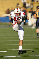 2 December 2006: Leon Peralto during Stanford's 26-17 loss to Cal in the 109th Big Game at Memorial Stadium in Berkeley, CA.