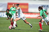 Carli Lloyd drives towards the goal. .USA 3-0 over Mexico in San Diego, California, Sunday, March 28, 2010.