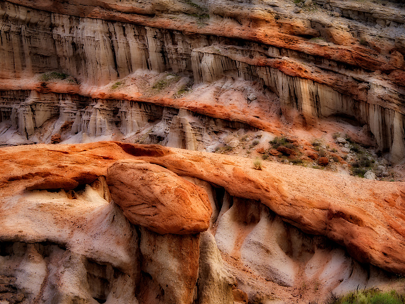Rock formations  and trail in Red Rock Canyon State Park, Californis
