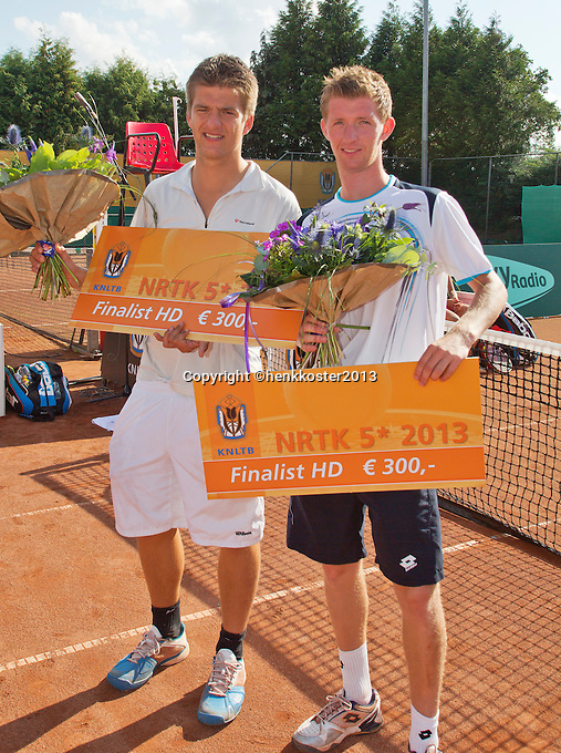 2013-08-17, Netherlands, Raalte,  TV Ramele, Tennis, NRTK 2013, National Ranking Tennis Champ,  Runners up doubles: Janick Lupescu ® and Sander Arends<br /> <br /> Photo: Henk Koster