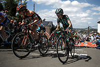 Cecilie Uttrup Ludwig (DEN/Bigla) up the infamous Mur de Huy.<br /> <br /> 22nd la Flèche Wallonne Féminin 2019 (1.WWT)<br /> 1 Day Race: Huy – Huy 118,5km<br /> women's elite race<br /> <br /> ©kramon