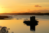 Castle Stalker and Loch Linnhe at sunset, Appin, Argyll & Bute<br /> <br /> Copyright www.scottishhorizons.co.uk/Keith Fergus 2011 All Rights Reserved