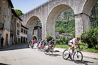 the breakaway group led by Greg Van Avermaet (BEL/AG2R Citroën)<br /> <br /> 73rd Critérium du Dauphiné 2021 (2.UWT)<br /> Stage 6 from Loriol-sur-Drome to Le Sappey-en-Chartreuse (167km)<br /> <br /> ©kramon