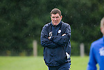 St Johnstone Training…22.07.16<br />Manager Tommy Wright pictured during training this morning at McDiarmid Park ahead of tomorrows Betfred Cup game against Falkirk.<br />Picture by Graeme Hart.<br />Copyright Perthshire Picture Agency<br />Tel: 01738 623350  Mobile: 07990 594431