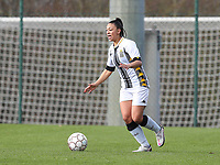 Jessica Silva Valdebenito (18) of Sporting Charleroi in action during a female soccer game between Standard Femina de Liege and Sporting Charleroi on the 16th matchday of the 2020 - 2021 season of Belgian Scooore Womens Super League , saturday 13 th of February 2021  in Angleur , Belgium . PHOTO SPORTPIX.BE | SPP | SEVIL OKTEM