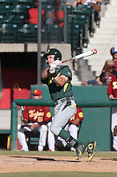 Scott Heineman (9) of the Oregon Ducks bats during a game against the Southern California Trojans at Dedeaux Field on April 18, 2015 in Los Angeles, California. Oregon defeated Southern California, 15-4. (Larry Goren/Four Seam Images)