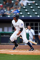 NW Arkansas Naturals second baseman Angel Franco (1) at bat during a game against the San Antonio Missions on May 31, 2015 at Arvest Ballpark in Springdale, Arkansas.  NW Arkansas defeated San Antonio 3-1.  (Mike Janes/Four Seam Images)
