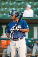 David Denson (30) of the Helena Brewers at bat against the Ogden Raptors in Pioneer League action at Lindquist Field on August 19, 2015 in Ogden, Utah. Ogden defeated Helena 4-2.  (Stephen Smith/Four Seam Images)