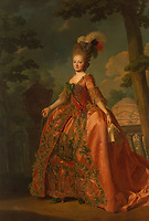 Portrait of Empress Maria Feodorovna (Sophie Dorothea of Württemberg) (1759-1828)<br /> Artist:Roslin, Alexander(1718-1793)<br /> Museum:State Hermitage, St. Petersburg<br /> Method:Oil on canvas<br /> Created:1777<br /> School:Sweden<br /> Category:Portrait<br /> Tsar's Family. House of Romanov<br /> Trend in art:Rococo