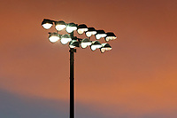 Red sky behind the floodlight during Leyton Orient vs Forest Green Rovers, Sky Bet EFL League 2 Football at The Breyer Group Stadium on 23rd January 2021