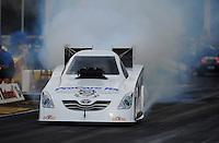 May 14, 2011; Commerce, GA, USA: NHRA funny car driver Melanie Troxel during qualifying for the Southern Nationals at Atlanta Dragway. Mandatory Credit: Mark J. Rebilas-