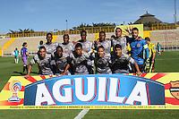 BOGOTA -COLOMBIA, 8-02-2017. Team of Tigres FC agaisnt Cortulua  during match for the date 2 of the Aguila League I 2017 played at Metropolitano de Techo stadium . Photo:VizzorImage / Felipe Caicedo  / Staff