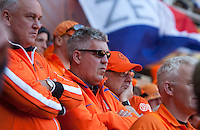 Netherlands fans watch the FIFA World Cup first round match between Holland and Denmark at Soccer City in Johannesburg, South Africa on Monday, June 11, 2010.
