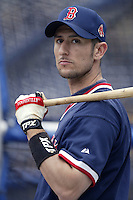 Nomar Garciaparra of the Boston Red Sox before a 2002 MLB season game against the San Diego Padres at Qualcomm Stadium, in San Diego, California. (Larry Goren/Four Seam Images)