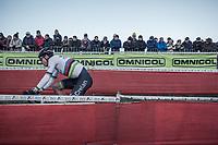 World Champion Wout van Aert (BEL/Crelan Charles) <br /> <br /> men's elite race<br /> Flandriencross Hamme / Belgium 2017
