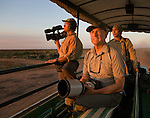 Directors of photography Karel Bauer and Sean White pictured with Art Wolfe while filming the Pantanal episode of Travels to the Edge.