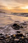 Sunrise from St Clair Beach in Dunedin, New Zealand