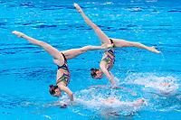 UKRAINE<br /> ALEKSIIVA Maryna / ALEKSIIVA Vladyslava<br /> FIEDINA Marta / HRYSHKO Veronika<br /> NOSOVA Anna / REZNIK Kateryna<br /> SAVCHUK Anastasiya / SHYNKARENKO Alina<br /> SYDORENKO Kseniya / YAKHNO Yelyzaveta<br /> Highlights Final<br /> Artistic Swimming<br /> Budapest  - Hungary  15/5/2021<br /> Duna Arena<br /> XXXV LEN European Aquatic Championships<br /> Photo Pasquale Mesiano / Deepbluemedia / Insidefoto