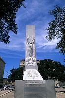 Statue memorial of the Alamo  historical event, San Antonio, Texas, USA