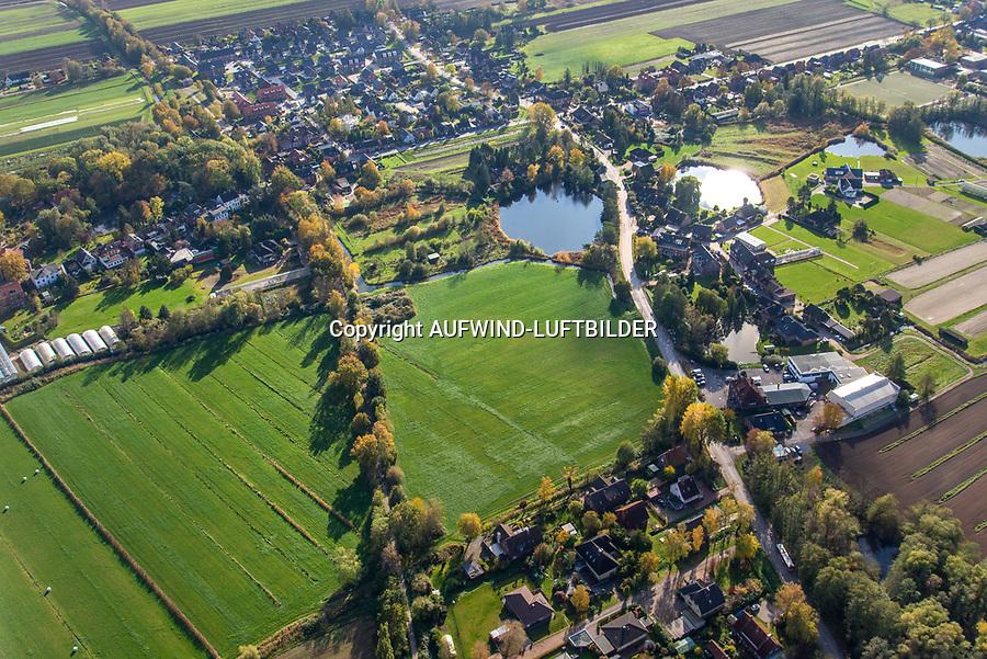 Ochsenwerder Butterberg: DEUTSCHLAND, HAMBURG 30.10.2019: Ochsenwerder Butterberg