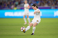 Orlando, FL - Saturday March 24, 2018: Utah Royals midfielder Diana Matheson (10) during a regular season National Women's Soccer League (NWSL) match between the Orlando Pride and the Utah Royals FC at Orlando City Stadium. The game ended in a 1-1 draw.