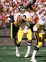 Pittsburgh Steelers Terry Bradshaw(12) during a game from his 1973 season with the Pittsburgh Steelers. Terry Bradshaw played 14 years, all for the Pittsburgh Steelers, was a 3-time Pro Bowler, 1-time first team Pro Bowler and was inducted to the Pro Footbal Hall of Fame in 1989(SportPics)