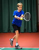 Wateringen, The Netherlands, December 15,  2019, De Rhijenhof , NOJK juniors doubles , Final boys 14 years, Pieter de Lange (NED)<br /> Photo: www.tennisimages.com/Henk Koster