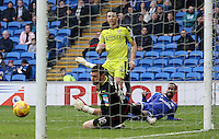 Junior Hoilett of Cardiff City watches on as his shot just clears the far post during the Sky Bet Championship match between Cardiff City and Rotherham United at the Cardiff City Stadium, Wales, UK. 18 February 2017