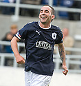 21/08/2010   Copyright  Pic : James Stewart.sct_jsp011_falkirk_v_stirling_alb  .:: MARK STEWART CELEBRATES AFTER HE SCORES THE SECOND :: .James Stewart Photography 19 Carronlea Drive, Falkirk. FK2 8DN      Vat Reg No. 607 6932 25.Telephone      : +44 (0)1324 570291 .Mobile              : +44 (0)7721 416997.E-mail  :  jim@jspa.co.uk.If you require further information then contact Jim Stewart on any of the numbers above.........