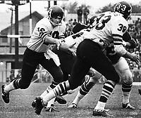 Greg Barton Toronto Argonauts quarterback 1971. Copyright photograph Scott Grant/