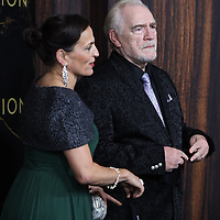 """October 12, 2021. Nicole Ansari-Cox, Brian Cox  attend HBO's """"Succession"""" Season 3 Premiere at the  American Museum of Natural History in New York October 12, 2021 Credit: RW/MediaPunch"""
