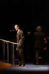 September 26, 2013. Raleigh, North Carolina.<br />  Tony Rice gives the acceptance speech for his induction into the International Bluegrass Music Hall of Fame. <br />  Bluegrass guitar legend Tony Rice was inducted into the International Bluegrass Music Hall of Fame during the International Bluegrass Music Awards, held in Memorial Hall at the Duke Energy Center for the Performing Arts.