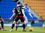 St Johnstone v Partick Thistle…28.04.18…  McDiarmid Park    SPFL<br />John Robertson is closed down by Nial Keown<br />Picture by Graeme Hart. <br />Copyright Perthshire Picture Agency<br />Tel: 01738 623350  Mobile: 07990 594431