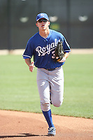 Tim Ferguson  of the Kansas City Royals  plays in minor league spring training game against the Texas Rangers at the Rangers minor league complex on March 22, 2011  in Surprise, Arizona. .Photo by:  Bill Mitchell/Four Seam Images.