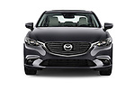 Car photography straight front view of a 2017 Mazda Mazda6 Prestige Edition 4 Door Sedan