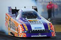 Oct. 14, 2011; Chandler, AZ, USA; NHRA funny car driver Tim Wilkerson during qualifying at the Arizona Nationals at Firebird International Raceway. Mandatory Credit: Mark J. Rebilas-