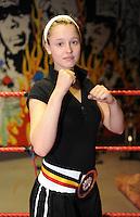 4x Belgisch Kampioen in Boxclub Lichtervelde..Davine Delaere..foto David Catry / VDB