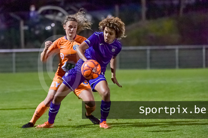 Anderlecht midfielder Kassandra Missipo (12) pictured during a female soccer game between RSC Anderlecht Dames and AA Gent Ladies on the seventh matchday of the 2020 - 2021 season of Belgian Womens Super League , friday 13 th of November 2020  in Overijse , Belgium . PHOTO SPORTPIX.BE | SPP | STIJN AUDOOREN