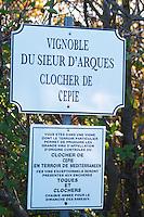 Clocher de Cepie, Toques et Clochers. Sieur D'Arques Aimery cooperative co-operative. Limoux. Languedoc. France. Europe.