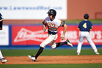 Canisius College Golden Griffins right fielder John Conti (23) running the bases during the second game of a doubleheader against the Michigan Wolverines on February 20, 2016 at Tradition Field in St. Lucie, Florida.  Michigan defeated Canisius 3-0.  (Mike Janes/Four Seam Images)