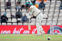 Colin de Granhomme, New Zealand is trapped LBW to Mohammad Shami, India during India vs New Zealand, ICC World Test Championship Final Cricket at The Hampshire Bowl on 22nd June 2021